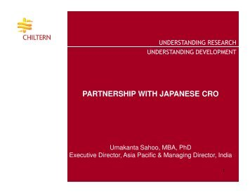 partnership with japanese cro partnership with japanese cro - IIR