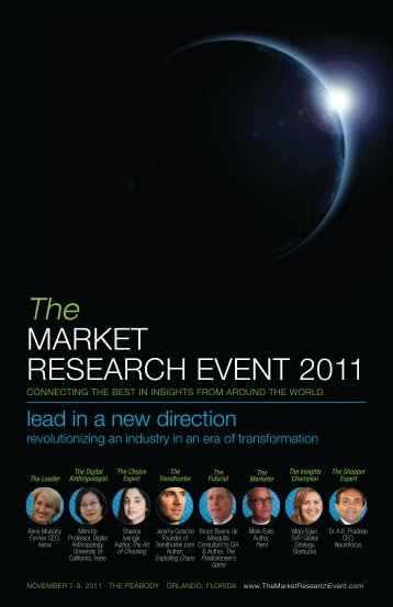The MARKET RESEARCH EVENT 2011 - IIR