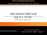 THE INDIAN PRIVATE EQUITY STORY - IIR