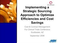 Implementing a Strategic Sourcing Approach to Optimize ... - IIR