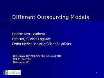 Different Outsourcing Models - IIR