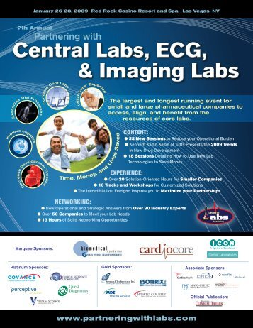 Central Labs, ECG, & Imaging Labs Central Labs, ECG ... - IIR