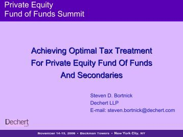 Achieving Optimal Tax Treatment For Private Equity Fund Of ... - IIR