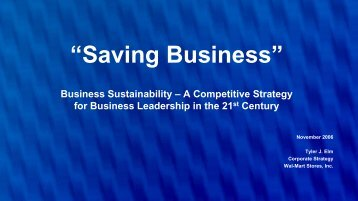 Tyler Elm - Business Sustainability - IIR