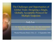 The Challenges and Opportunities of Global Trials: Designing a ... - IIR