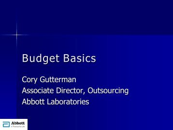 Clinical Development Outsourcing 101- Budget Basics (1) - IIR