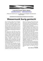 Konzert am 09.06.2004 im Kurhaus Baden-Baden