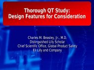 Thorough QT Study: Design Features for Consideration - IIR