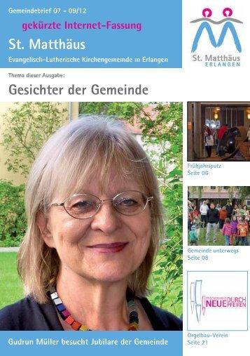 Ausgabe Juli bis September 2012 - Evang.-Luth. Kirchengemeinde ...