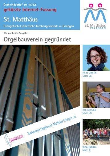 Ausgabe Oktober bis November 2012 - Evang.-Luth ...