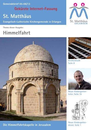 Ausgabe Mai bis Juni 2013 - Evang.-Luth. Kirchengemeinde St ...