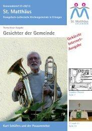 Ausgabe Juli bis September 2013 - Evang.-Luth. Kirchengemeinde ...