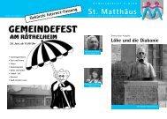 Ausgabe Mai bis Juni 2008 - Evang.-Luth. Kirchengemeinde St ...