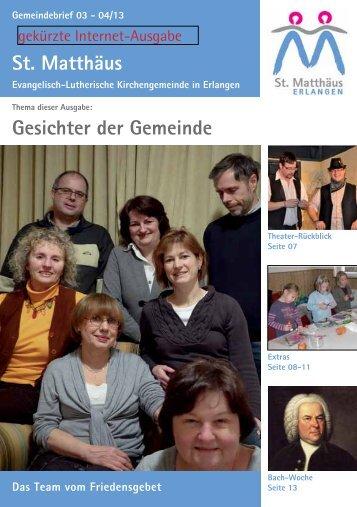 Ausgabe März bis April 2013 - Evang.-Luth. Kirchengemeinde St ...