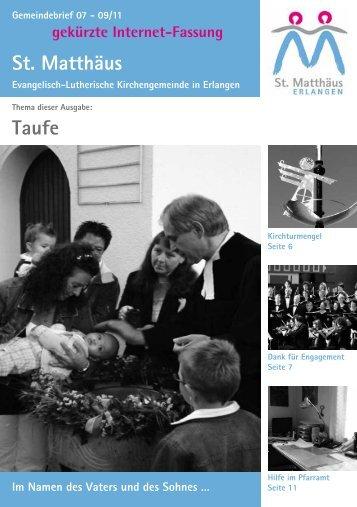 Ausgabe Juli bis September 2011 - Evang.-Luth. Kirchengemeinde ...