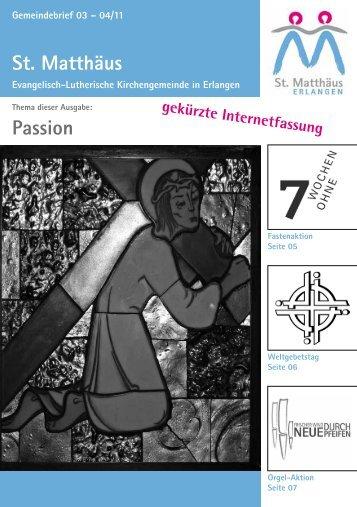 Ausgabe März bis April 2011 - Evang.-Luth. Kirchengemeinde St ...