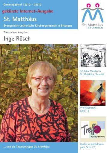 Ausgabe Dezember 2012 bis Februar 2013 - Evang.-Luth ...
