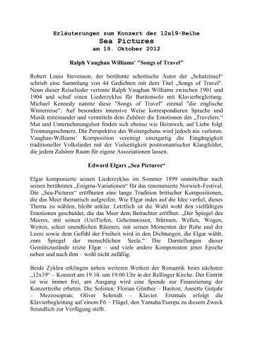 "Ralph Vaughan Williams' ""Songs of Travel"" - Verein zur Förderung ..."
