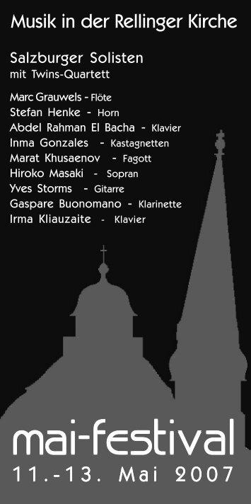 2007 - Verein zur Förderung der Musik an der Rellinger Kirche