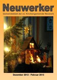 Gemeindebrief 2012-4 - Ev. luth. Kirchengemeinde Neuwerk Goslar