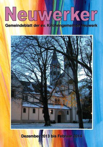 Gemeindebrief 4-2013 HP - Ev. luth. Kirchengemeinde Neuwerk ...