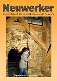 Neuwerker Sept.-Nov. 2011 - Ev. luth. Kirchengemeinde Neuwerk ...