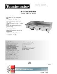 Electric Griddles - Pizza Ovens