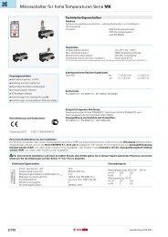 Mikroschalter für hohe Temperaturen Serie MK