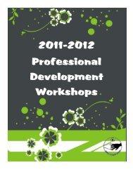 Professional Development Workshop Booklet 2011-2012 (pdf)