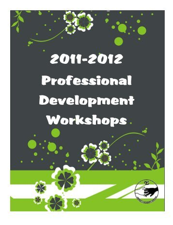 Professional Development Workshop Booklet 2011-2012 (pdf)