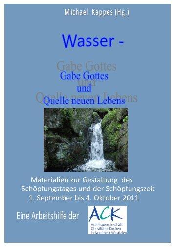 Wasser auf dem Globus - ACK-NRW