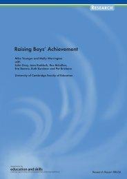 Raising Boys' Achievement - Department for Education