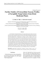 Further Studies of Extracellular Enzyme Profiles of Xerophilic Fungi ...
