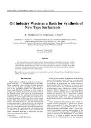 Oil Industry Waste as a Basis for Synthesis of New Type Surfactants