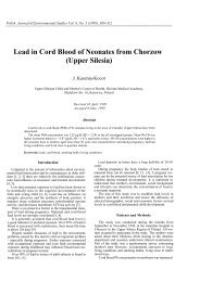 Lead in Cord Blood of Neonates from Chorzow (Upper Silesia)
