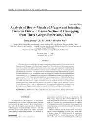 Analysis of Heavy Metals of Muscle and Intestine Tissue in Fish – in ...