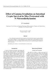 Effect of Gamma Irradiation on Intestinal Crypts Survival in Mice ...