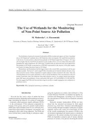 The Use of Wetlands for the Monitoring of Non-Point Source Air ...