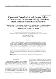 Changes of Physiological and Genetic Indices of Lycopersicon ...
