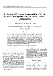 Evaluation of Chelating Agents as Heavy Metals Extractants in ...