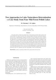 Two Approaches to Lake-Naturalness Determination - a Case Study ...