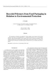Recycled Polymers from Food Packaging in Relation to ...