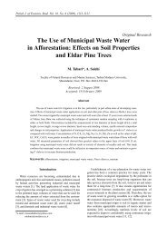 The Use of Municipal Waste Water in Afforestation - Polish Journal ...