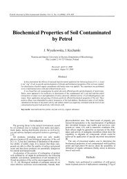 Biochemical Properties of Soil Contaminated by Petrol