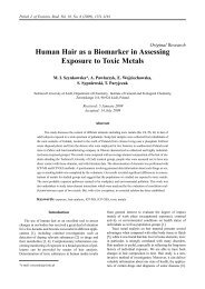 Human Hair as a Biomarker in Assessing Exposure to Toxic Metals
