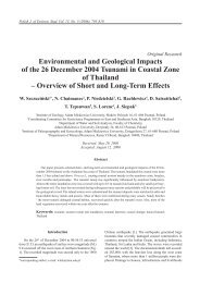 Environmental and Geological Impacts of the 26 December 2004 ...