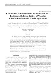 Comparison of Incidence of Cardiovascular Risk Factors and ...