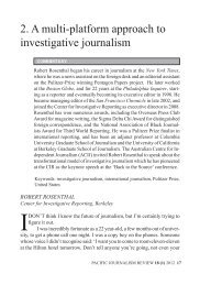 2. A multi-platform approach to investigative journalism - Pacific ...