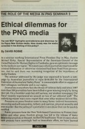 Ethical dilemmas for the PNG media - Pacific Journalism Review