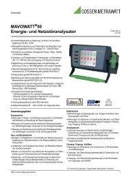 MAVOWATT 50 Energie- und Netzstöranalysator - PK elektronik ...